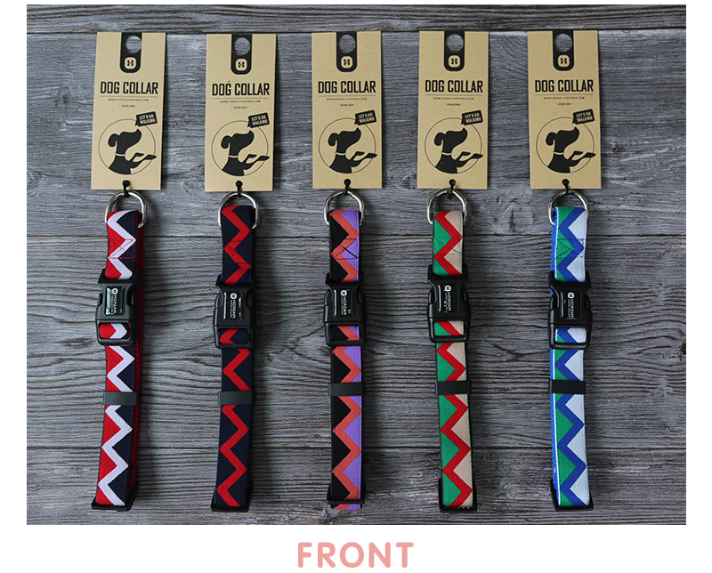 Outdoor Nylon Dog Collars Mascotas Pet Dogs Neck Straps Puppy Led Dog Collar Strong Colorful Wave 40-62CM Adjustable HD002004 (9)