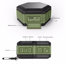Waterproof Bluetooth Speaker Bluetooth Wireless Speaker Mini SUPER BASS Portable For Smartphone Waterproof Vibration Speaker @tw