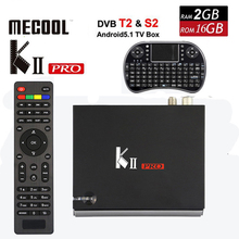 KII Pro DVB-T2 + DVB-S2 Android 5.1 TV Box 2GB/16GB Amlogic S905 Quad-core 4K*2K 2.4G&5G Dual Wifi Bluetooth KIIpro+i8 keyboard(China)