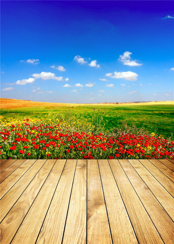 Wooden Floor Photo Background Flowers Studio Props Vinyl Sky Photography Backdrops  5x7ft or 3x5ft JieQX260<br><br>Aliexpress