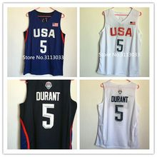 #5 Kevin Durant Dream Team usa Basketball Jersey Embroidery Stitched(China)