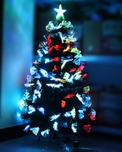 180cm New Arrive Christmas Tree with LED Light Decor Colorful Optical Fiber Christmas Tree Large Size Iron Stand(China)