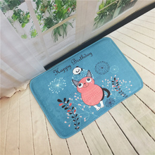 Cartoon Cute Owl Print Bedroom Door Entrance Carpet Doormat Rug Anti-Slip Absorption Bathroom Living Room Kitchen Floor Mat
