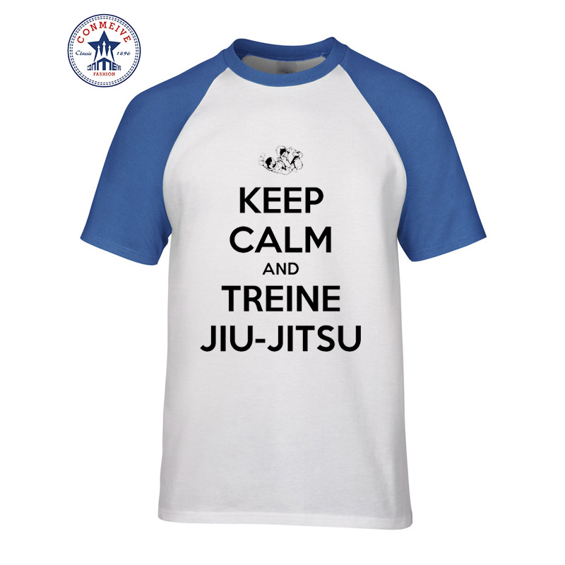 2017 Hot Selling Funny KEEP CALM AND TREINE JIU-JITSU Cotton T Shirt ...