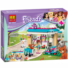 New BELA 203pcs Friends 71085 Vet Clinic Building Blocks Sets Diy Bricks Educational toys Compatible Lepined Friends For Girl