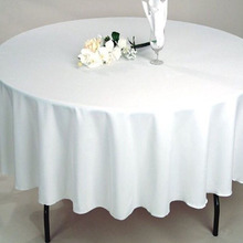 Pure Color Thicken Hotel Wedding Circular Table Cloth(China)