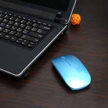 2.4G Wireless Optical Mouse Fashion Ultra-thin Mouse with USB Receiver for Laptop Notebook PC Desktop Computer Wholesale Price