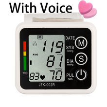 With Vioce Wrist Type Electronic Blood Pressure Monitor highquality Health Care Germany Chip Intelligent Black Use Of Battery