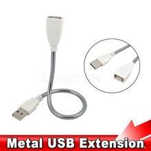 New Metal usb plumbing hose male to female usb lamp extension cable usb metal table lamp plumbing hose for laptop desktop
