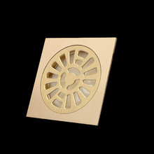 Shower Drain Brass Square Floor Drain Ordinary Bathroom Toilet Kitchen Basin Waste Dedicated Sanitary Fitting Water Drainage(China)
