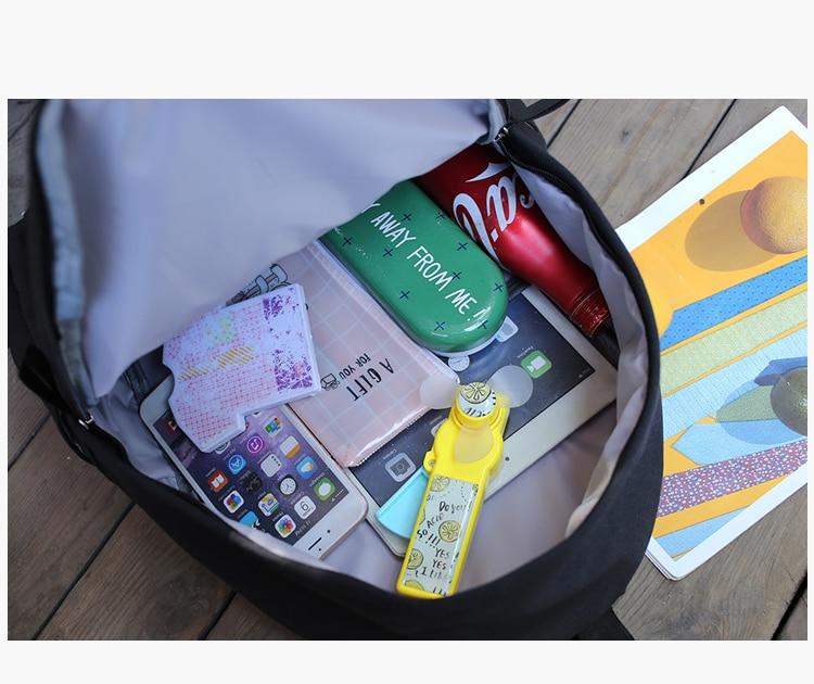 School Bag Wemen Korean Style Harajuku Ulzzang High School Student Fashion Popular Joker Backpack Canvas Simple Preppy Style10