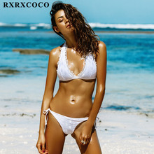 RXRXCOCO Brand 2017 Hot Design Swimwear Women Bikini Sext Sexy Lace Bathing Suits Push Up Brazilian Bandage Bikinis Swimsuits