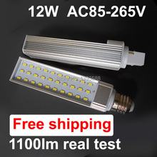 Power factor 0.9 LED Corn Light 12w 5730 SMD G24 LED lamp Bulb Lighting AC85~265V 60smd warranty 3 years CE ROHS(China)
