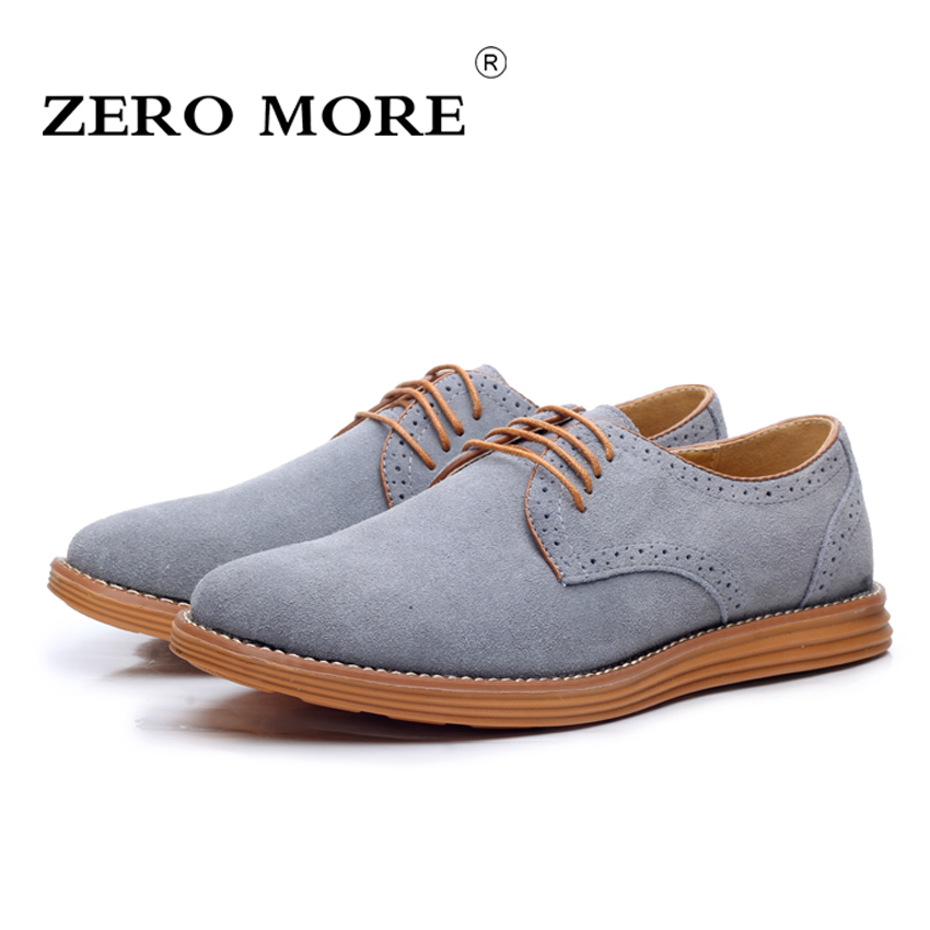 ZERO MORE British Oxford Shoes for Men Fashion High Quality Pointed Toe Formal Men Shoes Male Cow Suede Shoes Size 38-47<br>