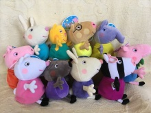 10PCS/lot 19CM Genuine Peppa pig Classmates High Quality hot sale plush pig toys For Children's cartoon doll Gift