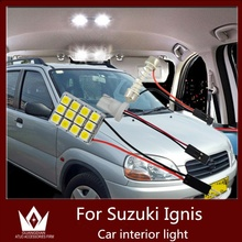GuangDian car accessories auto led light interior light Kit roof lamp reading bulb map BA9S T10 light For Suzuki Ignis 2000-2008(China)