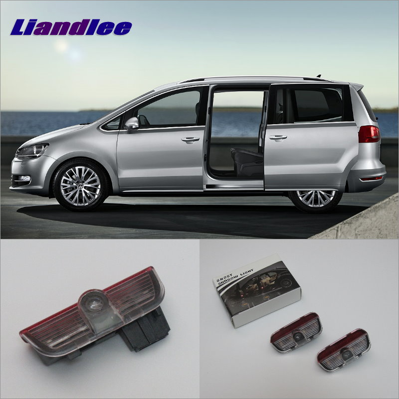 Liandlee Car Door Ghost Shadow Lights For VolksWagen VW Sharan 2012~2015 Courtesy Doors Lamp / LED Projector Welcome Light<br>