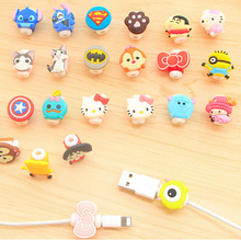 Cute Kawaii Lovely Cartoon Cable Protector USB Cable Winder Cover Case For IPhone 5 5s 6 6s 7s plus cable Protect Gift for kid