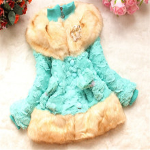 BibiCola fashion baby Girls faux fur coat Autumn/Winter Clothes Children Toddler kids Sweet worm outerwear jacket beautiful coat