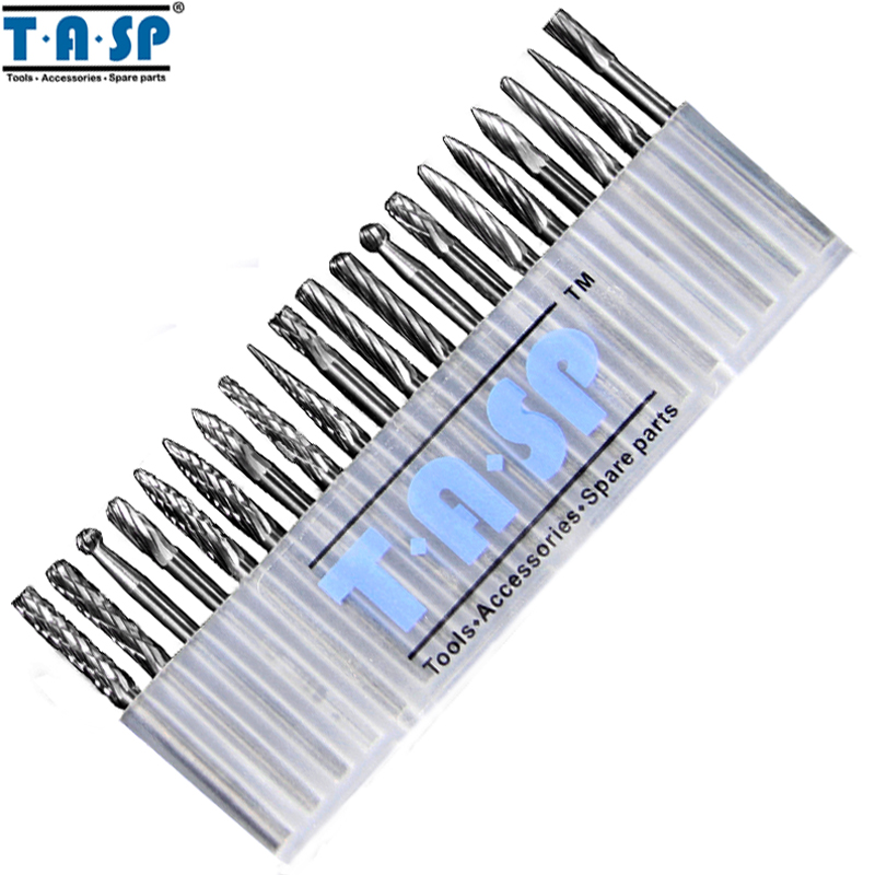 TASP 20 Pieces Tungsten Carbide Rotary Burrs Set  for Dremel Accessories Milling Cutter Drill Bit Engraving Bits<br><br>Aliexpress