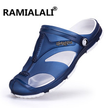 Ramialali Mens Flip Flops Sandals Casual Men Shoes Summer Fashion Beach Flip Flop Slippers Sapatos Hembre Sapatenis Masculino(China)