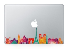 Hot Sale Laptop City Sight Landmark Skins For MacBook Sticker Vinyl Partial Decal For Air Pro Retina Apple Logo Sticker