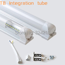 LED integration Tube lamp No shadow 2100lumens SMD2835 T8 LED tube 1200mm 18W 1.2m 120cm 4feet Light Lamp LED fluorescent tube(China)