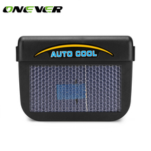 Onever Solar Sun Power Car Window Auto Air Vent Cool Fan Cooler Energy Saving With Rubber Stripping Ventilation System Radiator(China)