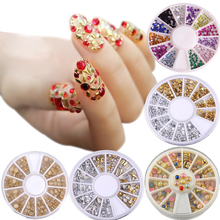 Bittb Nail Art Design Rhinestones Decorations 3D Glitter Fingernails DIY Nail Accessories Tools Adhesive Rhinestones Crystal(China)