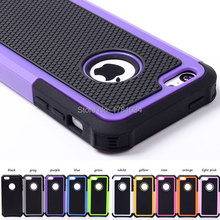 For 5C Surprise! Heavy Shock Proof Shell Cover Rugged Hybrid hollow Case For iPhone 5C Armour 2 in1 Phone Back Cover 10 colors
