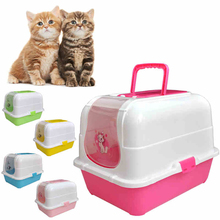 Supplies Cats Toilet Pets Bag House Plastic Shovel Cat Litter Box Encloser Pee Sand Scoop toilette chien Training Kit 70A2324
