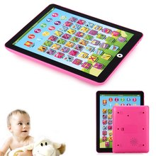 Multi-functional Kids Children English Learning Pad Toy Educational Musical Computer Tablet Plastic Intelligence Toys Portable(China)