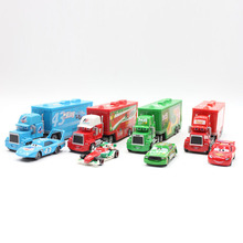 Disney Pixar Cars Alloy And Plastic Mack Truck No.43 The King No.95 Mcquen No.86 Htb 1:55 Diecast Metal Alloy Small Cars For Kid(China)
