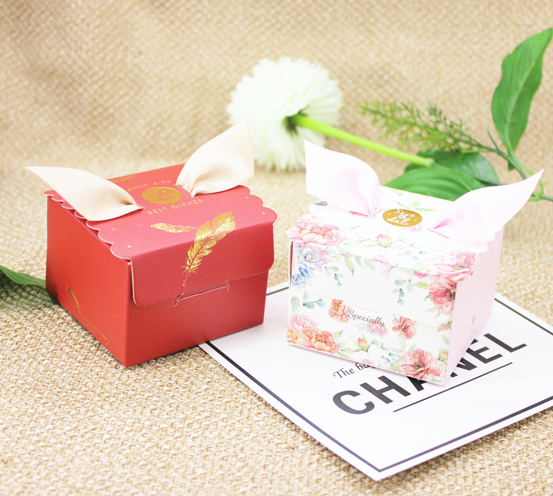 Multicolor Angel Candy Box Wedding Favor and Gift Box Sweet Paper Bags for Wedding Decoration Baby Shower Event Party Supplies (4)
