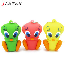 JASTER 3 colors Duck USB Flash Drive cartoon Pen drive  Animal pendrive 4GB/8GB/16GB promotion 100% real capacity