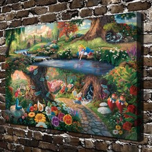 H1387 Thomas Kinkade Princess Elves Fairy ,HD Canvas Print Home decoration Living Room bedroom  Wall  pictures Art painting