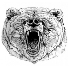The Roaring Bear Temporary Tattoo Women Bear Tattoos Adhesive Animal Tattoo stickers Waterproof harajuku tattoo sexy men