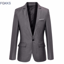 FGKKS New Arrival Brand Clothing Jacket Autumn Suit Men Blazer Fashion Slim Male Suits Casual Solid Color Blazers Men Size M-3XL