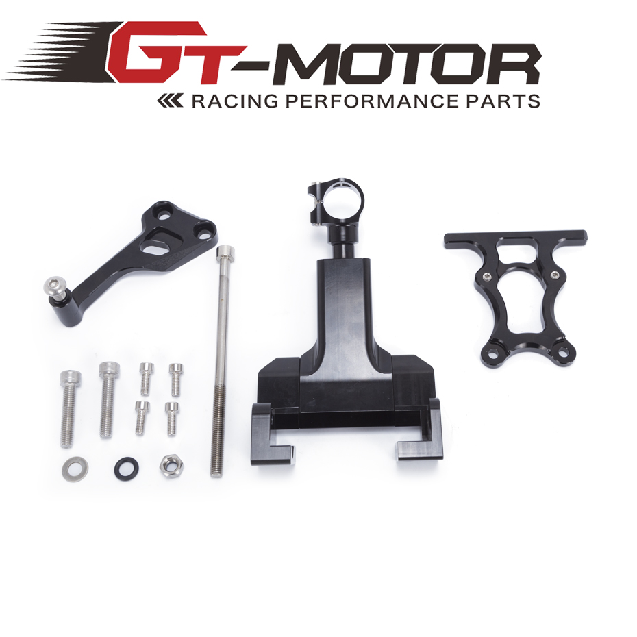 GT Motor - For YAMAHA MT-07 FZ-07 Motorcycles Adjustable Steering Stabilize Damper Bracket Mount Support Kit mt07 Accessories<br>