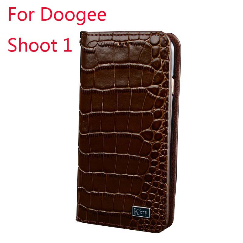 Doogee Shoot 1 Original K'Try Alligator Skin Genuine Real Leather Cover Cases Luxury Elegant Cover Cases High