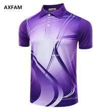 AXFAM Quick Dry Breathable Turn-down collar Men's Tennis Shirts Perfect quality Badminton Table Tennis Sports T-Shirt NM5051