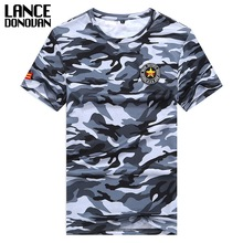 Both Sides Military Camouflage T-shirt Men 2017 M-5XL 6XL 7XL 8XL Tshirt Summer Hot Sale Short Sleeves T Shirt Men Tops Tees