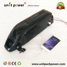 Hot sale down tube dolphin electric bike battery 36v 9ah lithium ion battery with USB port(China)
