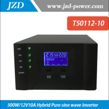Hybrid Inverter  500W/12V10A Pure sine wave  Inverter with Solar Charger Controller Use in Solar power System