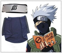 2pc set! Naruto KAKASHI Cosplay Costumes Ninja Mask + Cosplay Headband