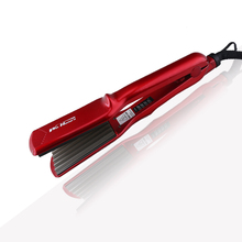 Nano Titanium Hair Straightening Iron LED Display Temperature Control Wave Flat Iron For Dry & Wet Hair Crimper Corrugated Irons