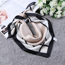 2017 South Korea's new lady the small squares Joker Spring and summer women silk scarf Satin small square qiu dong for female