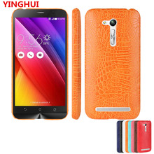 For Asus Zenfone GO ZB452KG ZB450KL Case Luxury Crocodile pattern PU leather Case For Asus ZB450KL fashion Phone Case Back Cover(China)