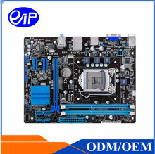 Desktop H61 LGA1155 Motherboard china Price with Intel H61 Core i7/i5/i3/Pentium/Celeron DDR3 16G 10*USB Mirco-ATX motherboard(China)