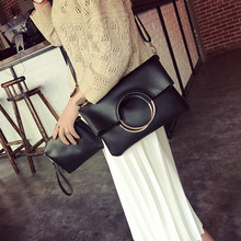 Composite Bag Handbags Ring Message Bag Shoulder Round Handle Fashion Catwalk Frame Product Street Shooting Hot Sale Two Pcs
